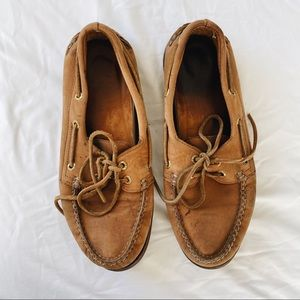 Sperry original leather brown boat shoes size 8.5